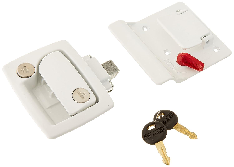 TRIMARK 60251WHT White Door Lock