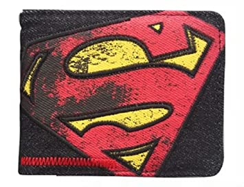 DC Comics Superman Symbol-Abzeichen Schwarz Portemonnaie Geldbörse