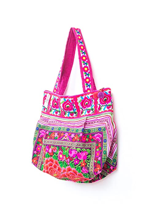 Amazon.com: Negro jardín Hill Tribe Bolsa Hmong bordado ...