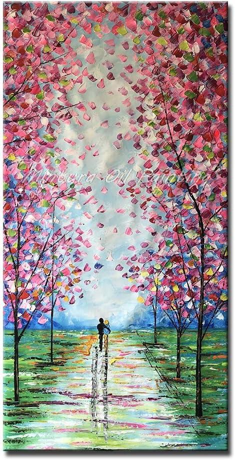 MAOYYM1 Cuchillo Pintado A Mano de Gran tamaño Paisaje Pintura Al Óleo sobre Lienzo Moderno Abstracto Pared Cuadros para la Sala de Estar Decoración para el hogar