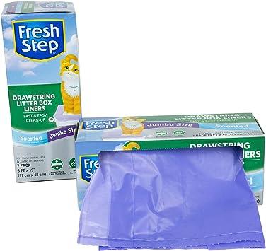 "Scented Jumbo Size 7 Fresh Step Drawstring Cat Litter Box Liners 36/"" x 19/"""