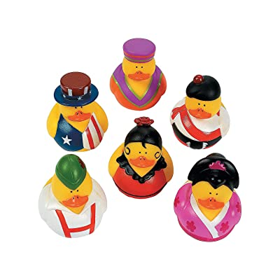 Fun Express Around The World Assorted Ducks - 12 Pieces - Educational and Learning Activities for Kids : Baby