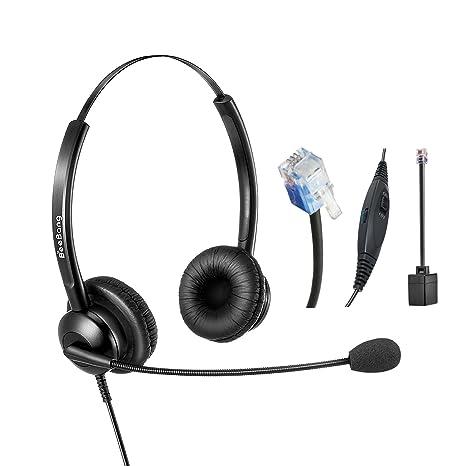 Cuffia Telefonica Binaural RJ9 Call Center Headset con microfono per  cancellazione di rumore per Cisco Yealink dad887270c68