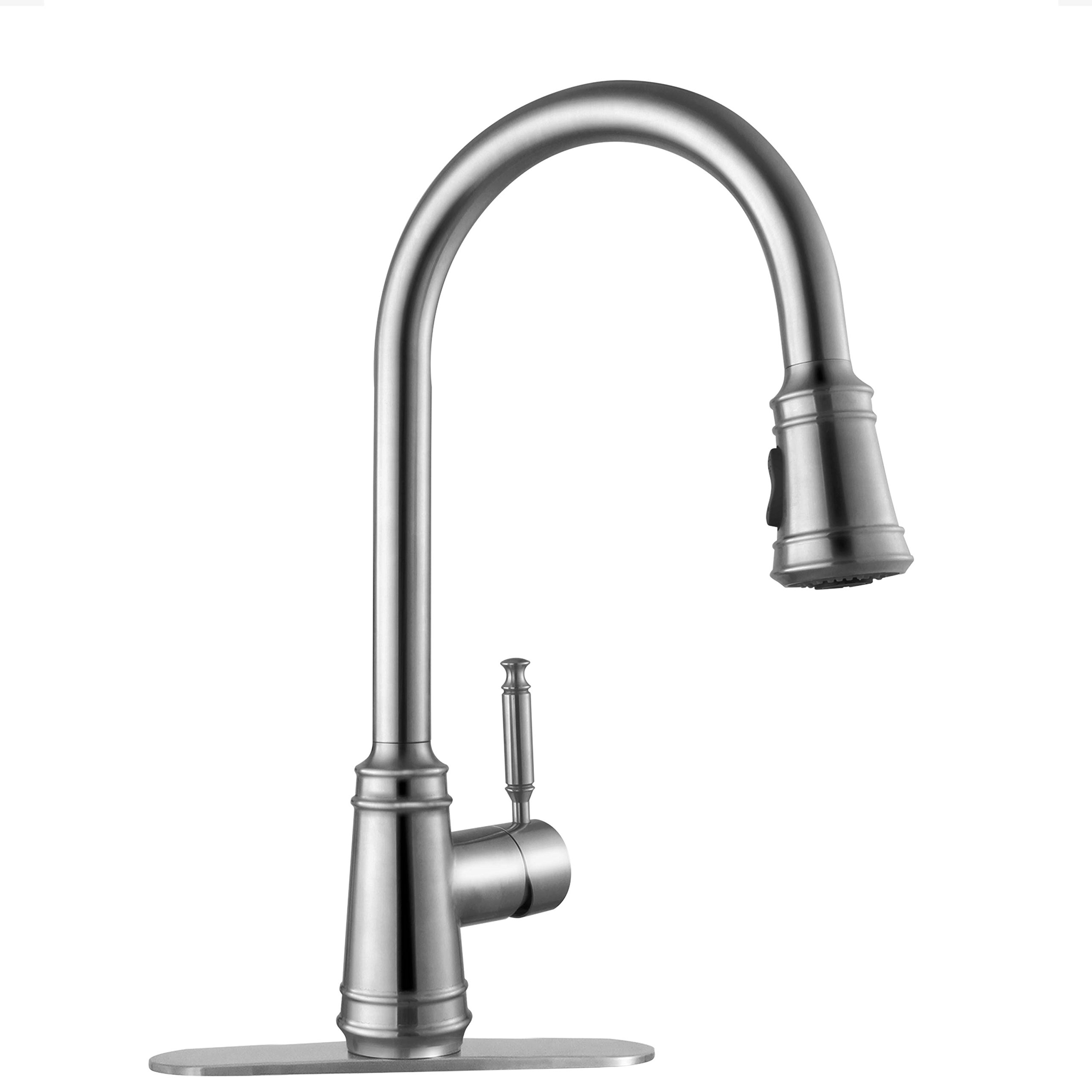 dst image pull water efficient delta down faucet beverage single addison kitchen faucets handle