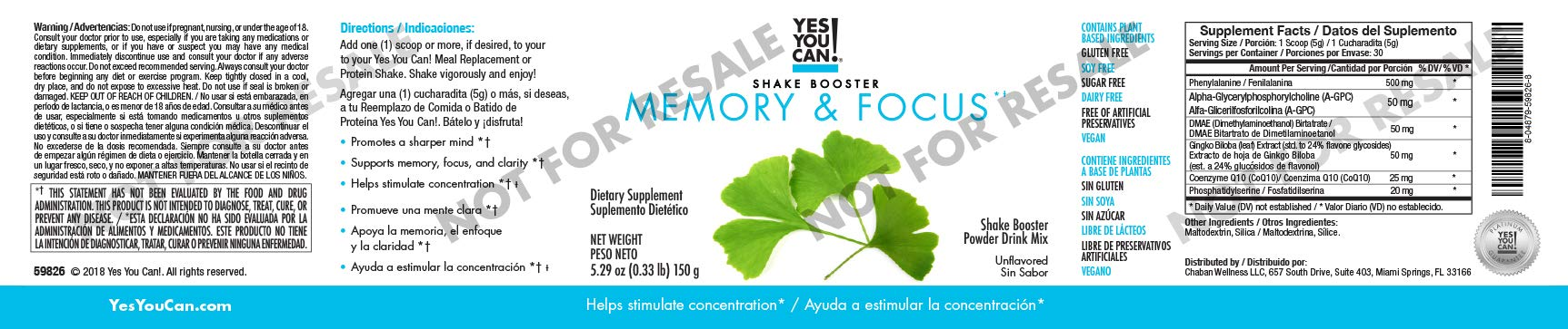 Yes You Can! Shake Boosters - Memory and Focus