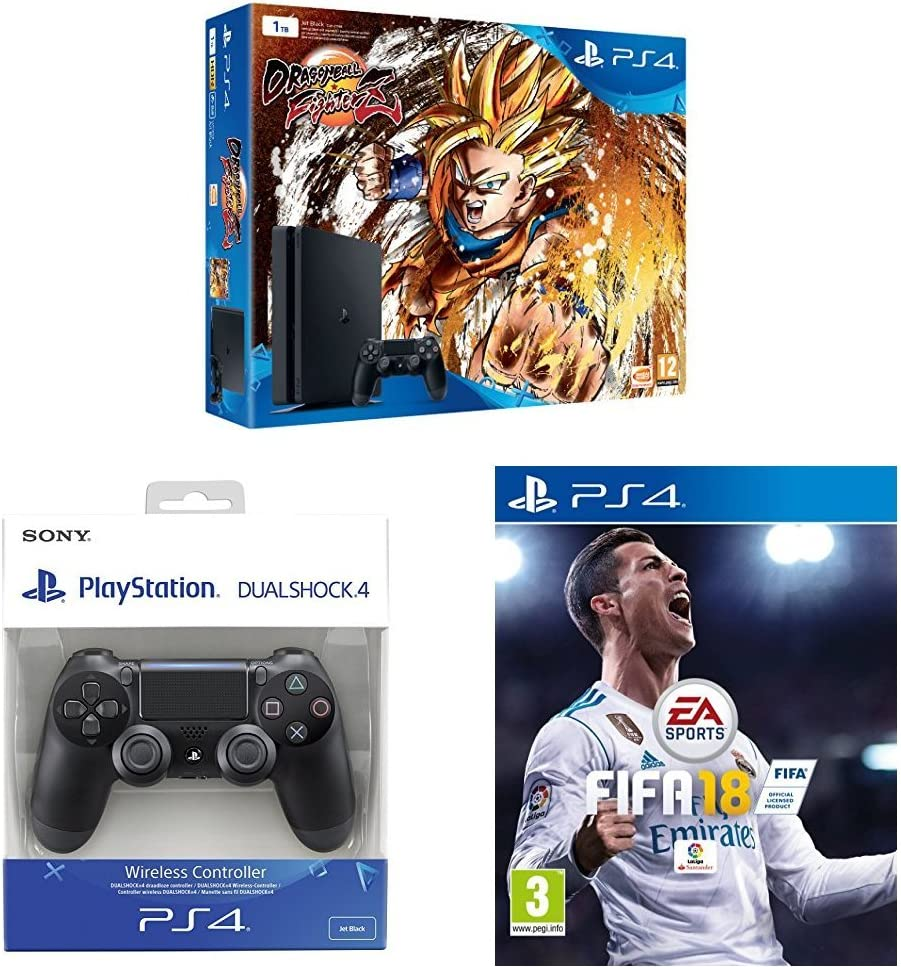 Playstation 4 (PS4) - Consola + Dragon Ball FighterZ + FIFA 18 + ...