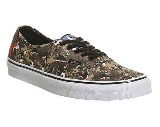 VANS Unisex Nintendo Authentic Duck Hunt/Camo VN0004MLJP7 Mens 5, Womens 6.5