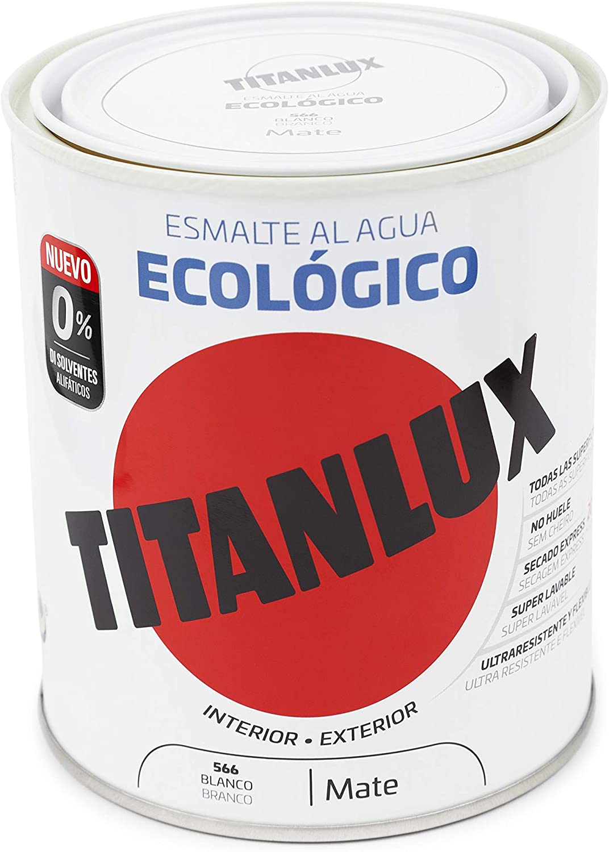 Titanlux - Esmalte eco, Mate blanco, 750ML (ref. 02T056634)