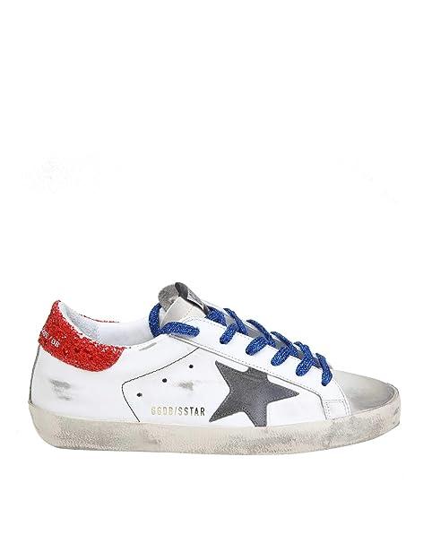 GOLDEN GOOSE G34WS590O29 Mujer Blanco Cuero Zapatillas: Amazon.es: Zapatos y complementos