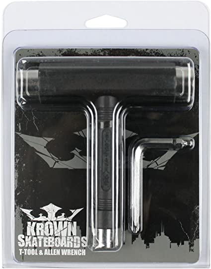 "Krown Skateboard T-Tool Black With 1.5/"" Hardware"