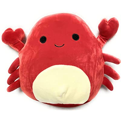 "Squishmallow Kellytoy 12"" Carlos The Red Crab Plush Toy: Toys & Games"