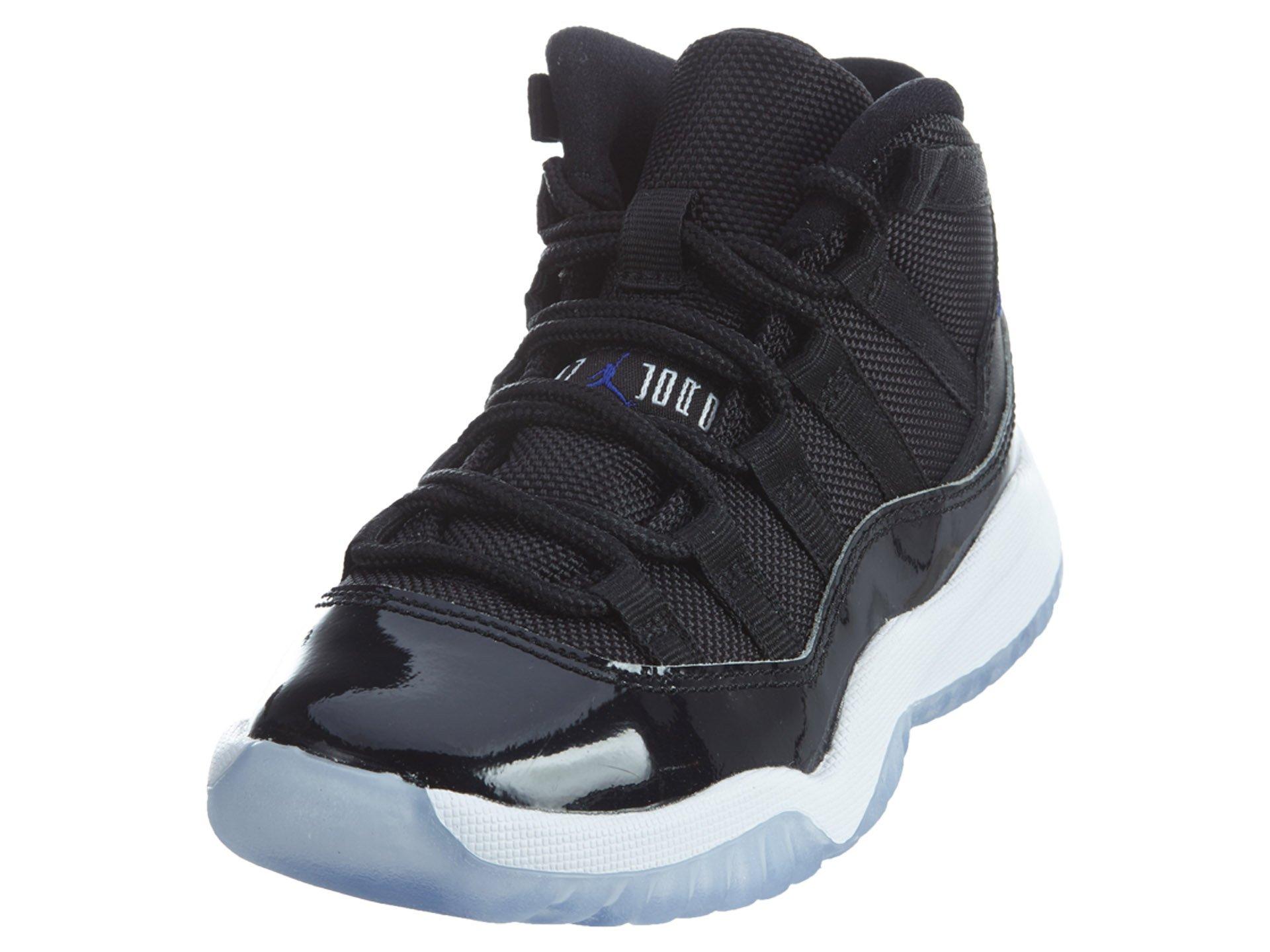 Jordan 11 RETRO BP boys fashion-sneakers 378039-003_1.5Y - BLACK/CONCORD-WHITE
