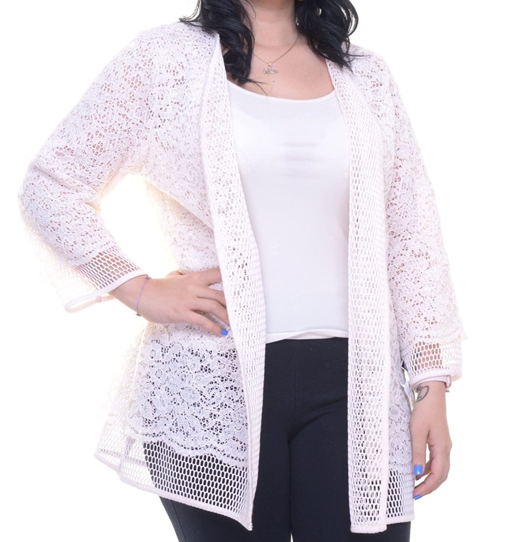 Alfani Women's Prima Lace Open-Front Cardigan