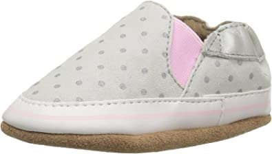 Amazon Com Robeez Girls Crib Shoe Dot Mania Metallic Grey 0 6 Months M Us Infant Sneakers