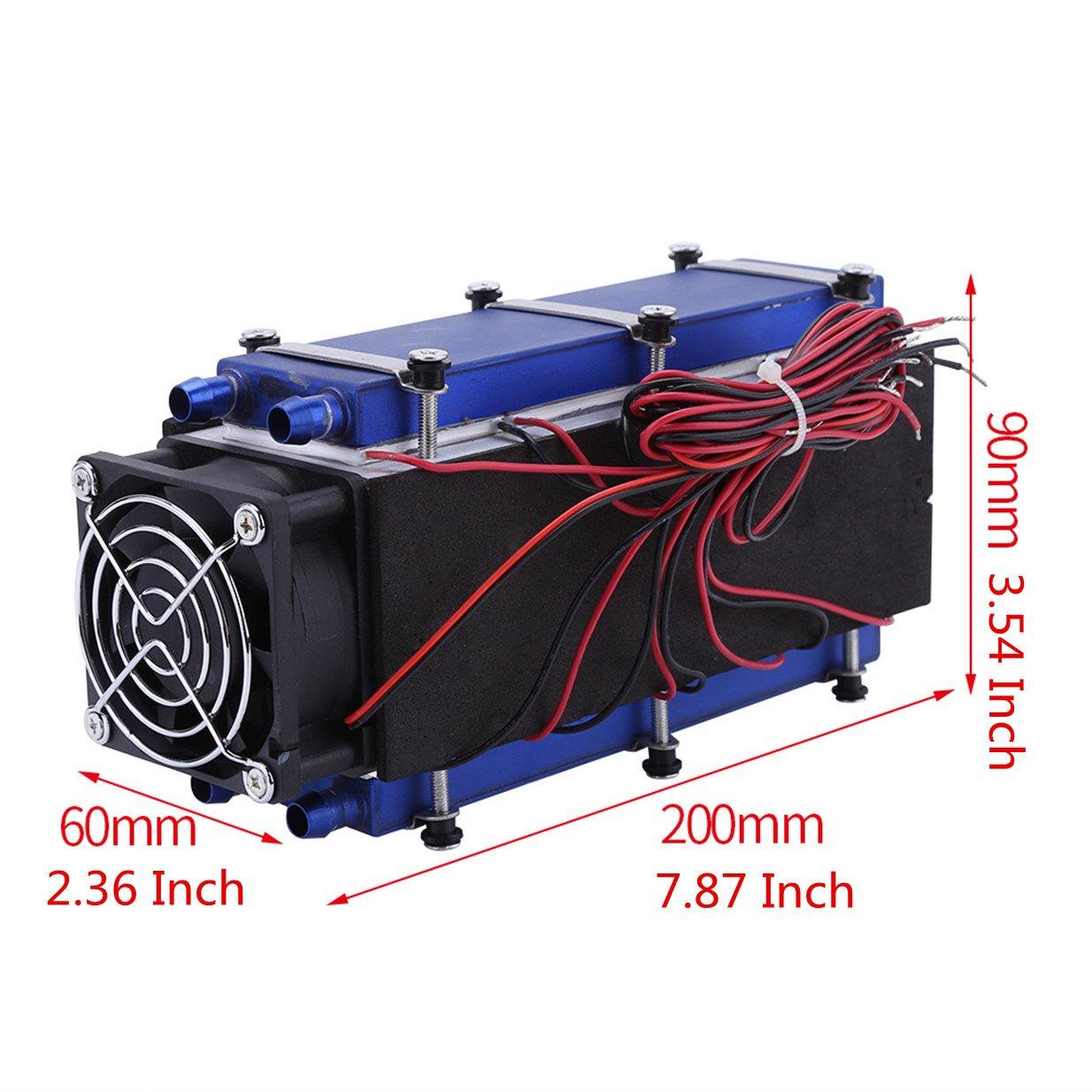 Amazon com: Mini Air Conditioner,DC 12V 576W 8-Chip TEC1