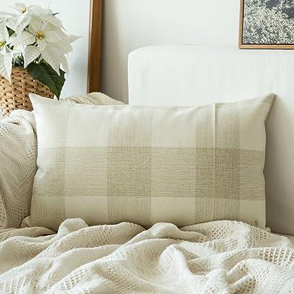 Amazon.com: Miulee Classic Retro Checkers Plaids Cotton Linen Soft ...