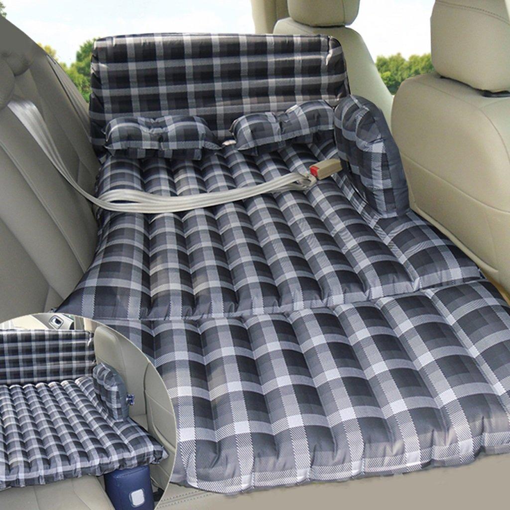 Ye Auto Matratze Auto Luft Bett Multifunktionale Faltbare Tragbare Reise Camping Auto Hinten Sitz Aufblasbare Matratze Für Reise und Schlaf Rest (Luftbett × 1 Kissen × 2 Luftpumpe × 1)