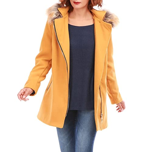 La Modeuse – Abrigo – para mujer marrón claro X-Large