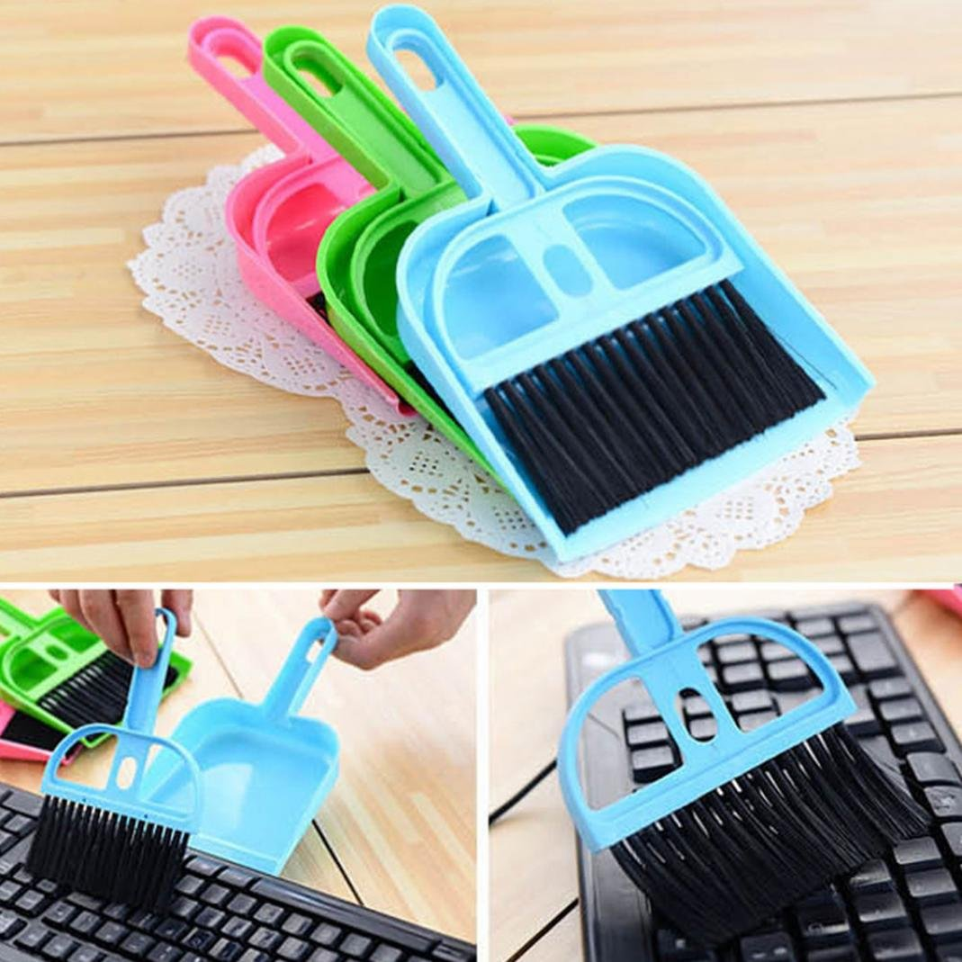 Little rock Mini Plastic Dustpan Brush and Brush Desk Cleaning Sweeper Dust Pan Set by Little rock (Image #3)