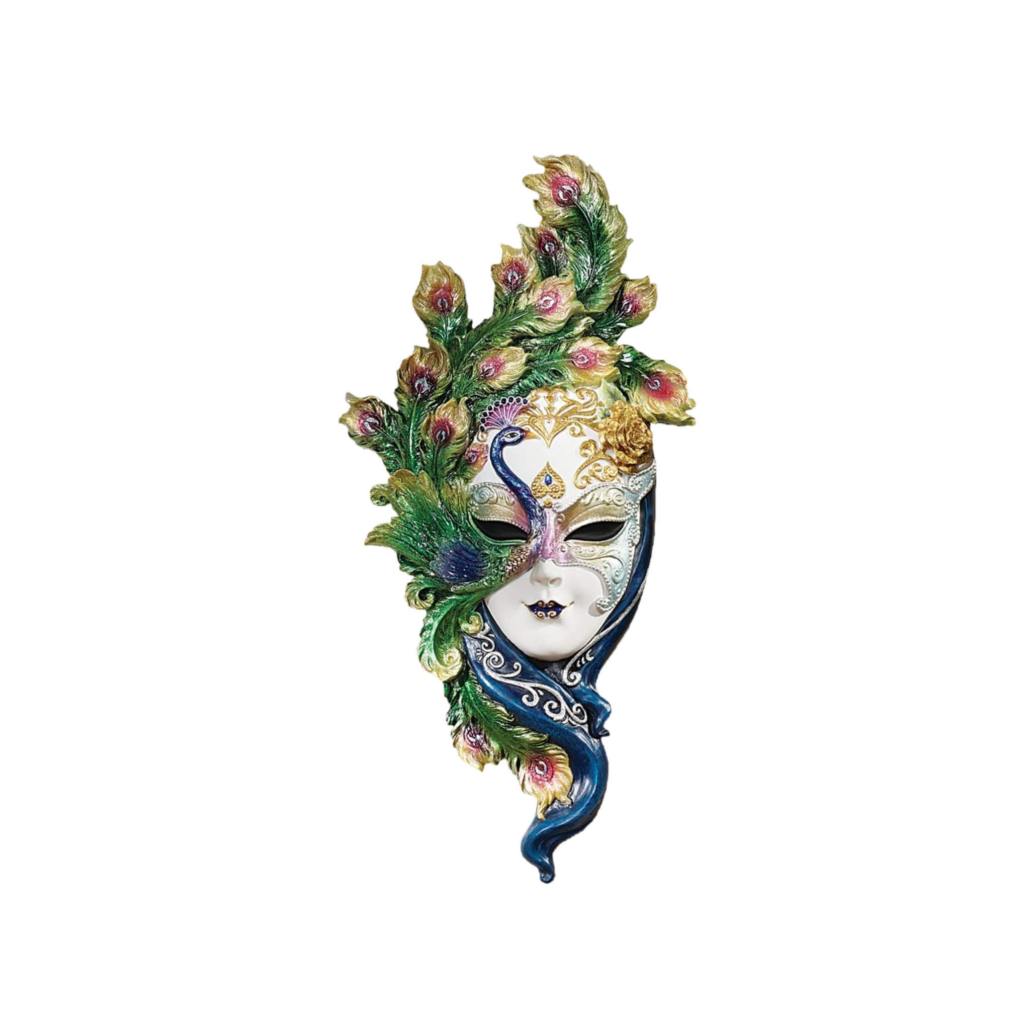 Design Toscano Mask of Venice Wall Sculpture: Peacock Mask by Design Toscano