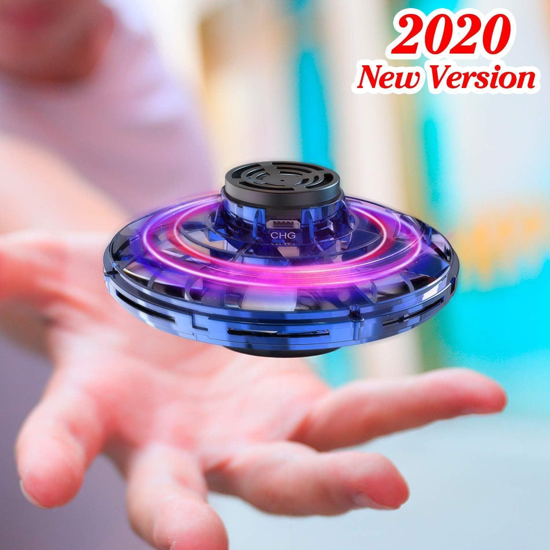 EUMI Flynova Spinner Volador, Mini Dron de OVNI Juego de Interior y Exterior Giro de 360°Detección Auto de Obstáculos Resistente Luz LED Juguete Volador Interactivo de Inducción Infrarrojo Recargable: Amazon.es: Juguetes y