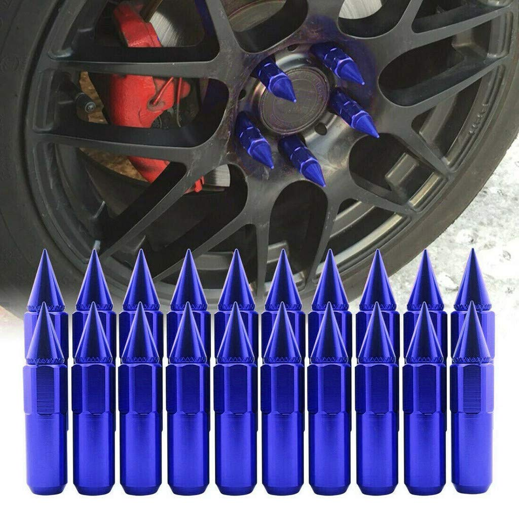 Multicolor MAMaiuh 20pcs M12 x P1.25mm Steel Spike Lug Nuts Aluminum Alloy Wheels Rims Cap