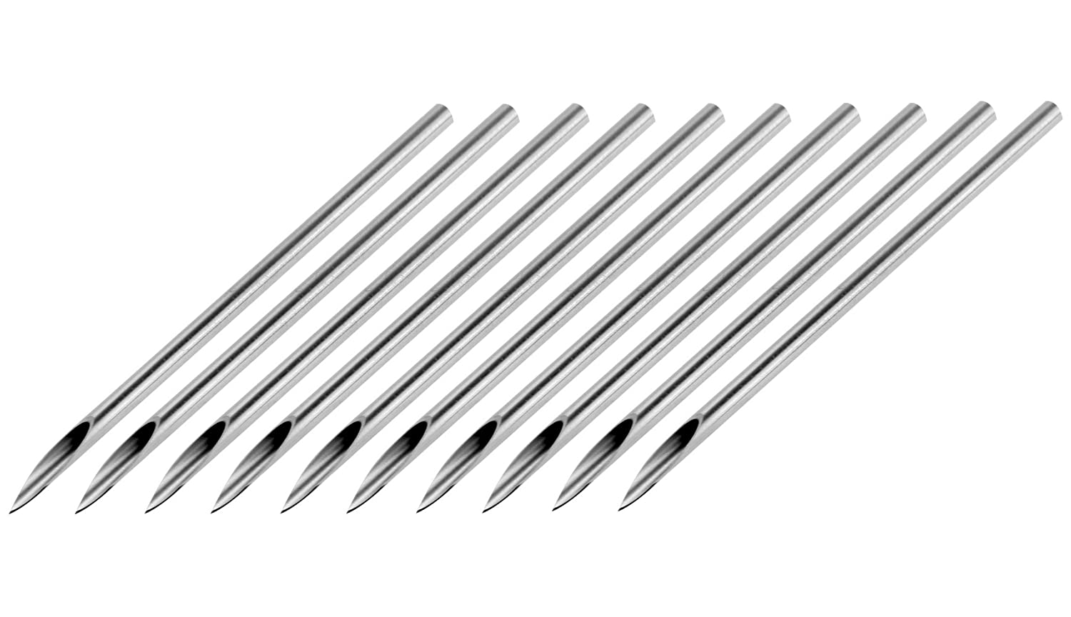 10 Sterilized Body Piercing Needles In 20 Gauge Amazoncouk Jewellery