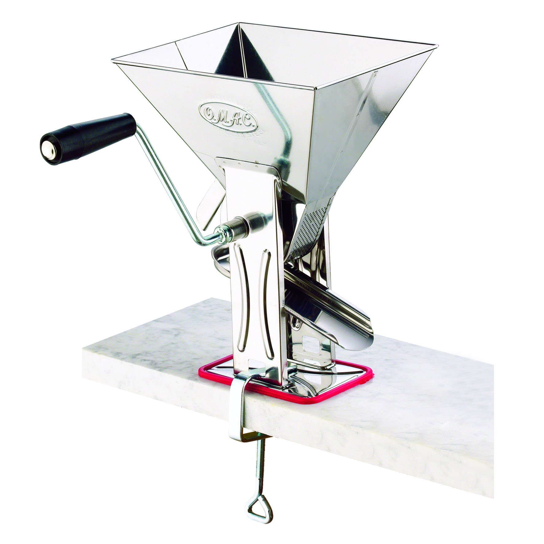 Tomato Mill Squeezer Masher Press Tomato Sauce Fruit Juice Maker Stainless Steel by O.M.A.C.