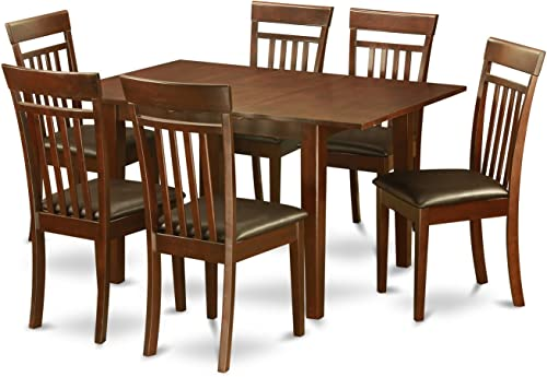 PSCA7-MAH-LC 7 PC small Kitchen Table set – small Kitchen Table with 6 Kitchen Dining Chairs