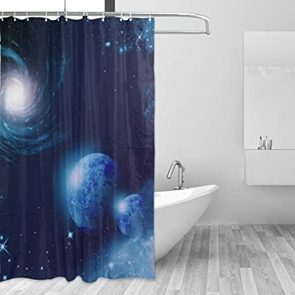 Image Unavailable Not Available For Color LORVIES Universe Shower Curtain