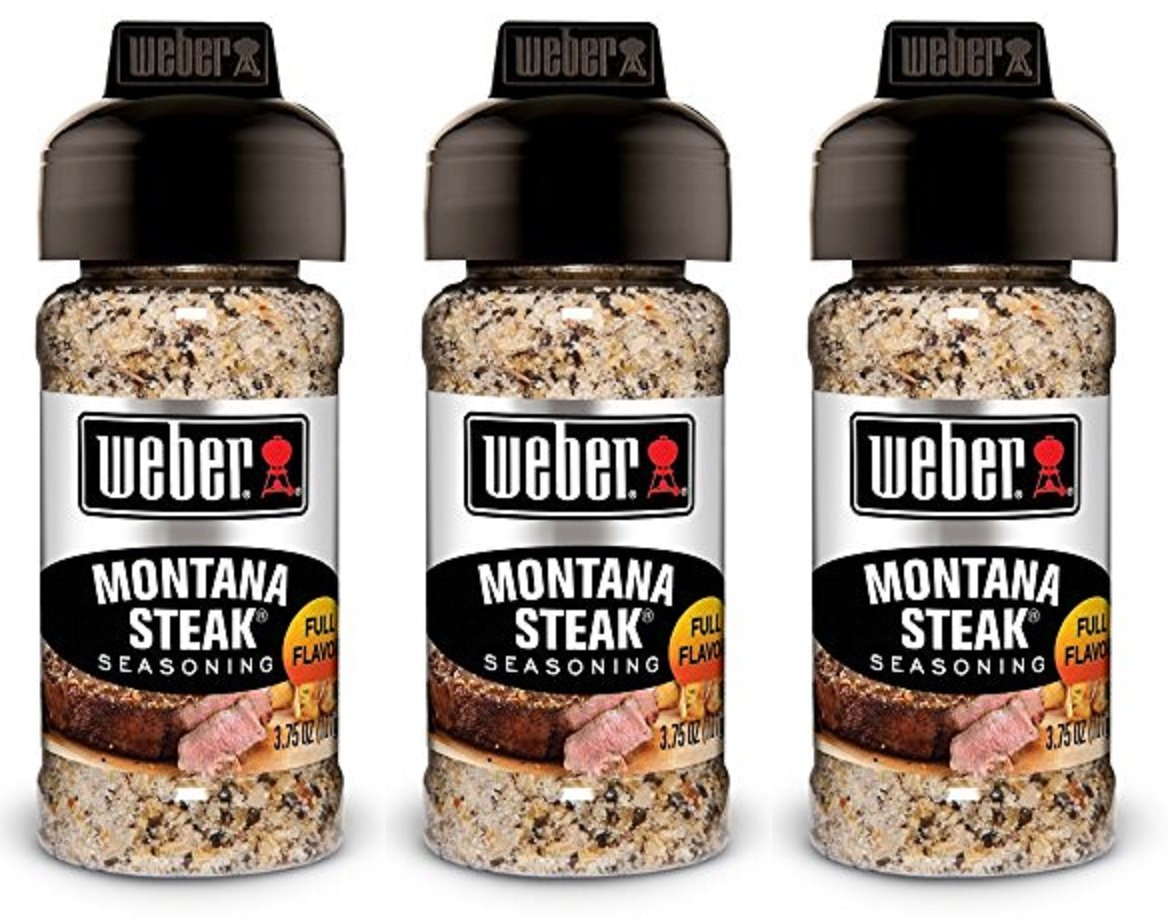 Weber Seasoning - Montana Steak - Net Wt. 3.75 OZ (107 g) Per Bottle - Pack of 3 Bottles by Weber