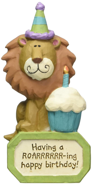 Blossom Cubo Roaring Feliz cumpleaños Bloque con león ...