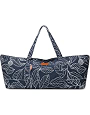 ELENTURE Full-Zip Extra Large Yoga Mat Tote Bag with Multi-Functional Storage Pockets for Sports Gym Pilates