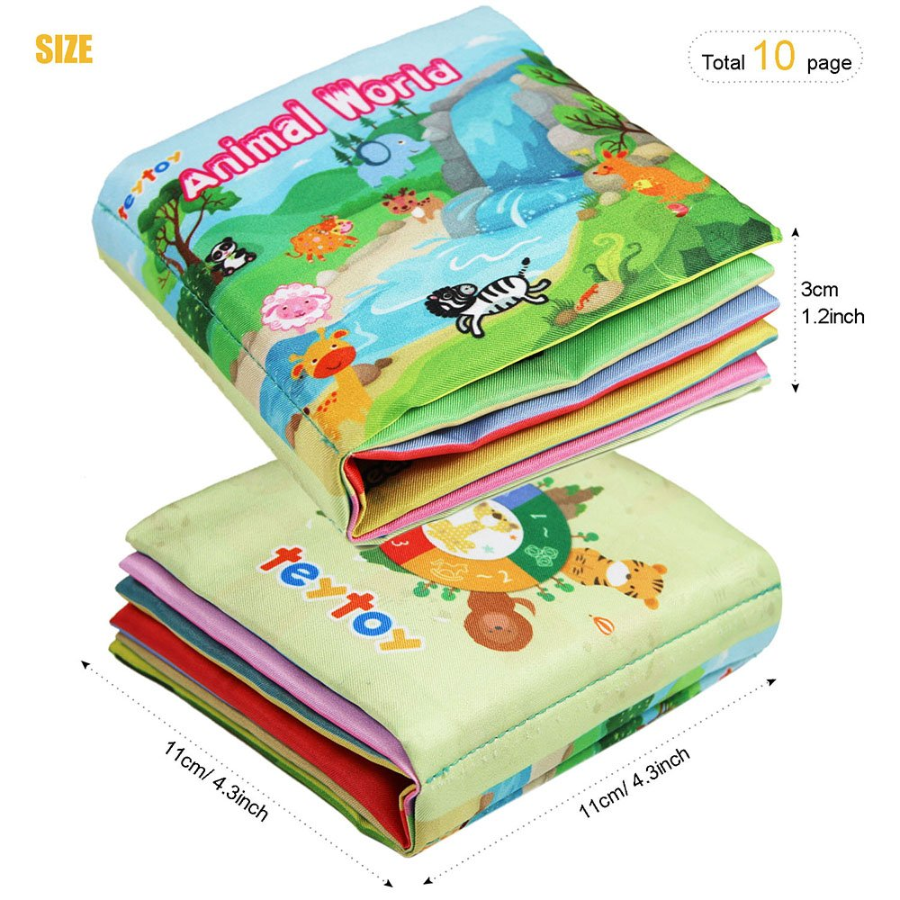 4 Packs Soft Fabric Baby Cloth Books Early Education Toys for Toddler Kids