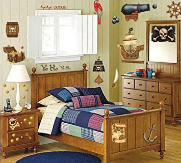 Amazon.com: Pirate\'s Treasure Stickers Wall Decals Children ...
