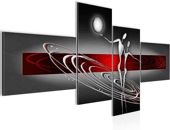 ABSTRAKT BUNT KUNST MODERN Wandbilder xxl Bilder Vlies Leinwand a-A-0344-b-n