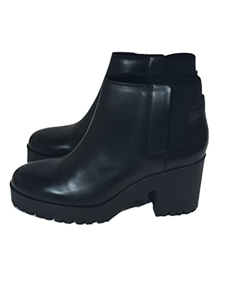 910da246aef Zara Women's Leather ankle boots with track sole 6120/101 (37 EU | 6.5