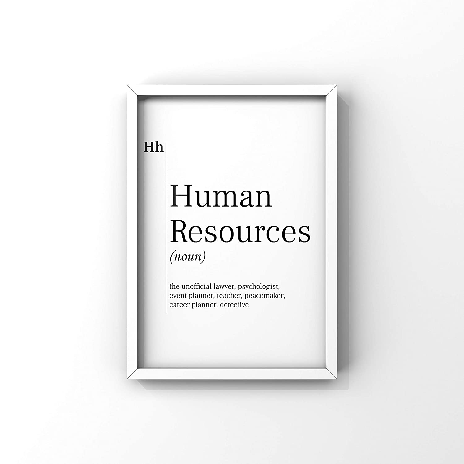 Human Resources Funny Dictionary Definition Printable, Recruiter Funny Gift, Job Definition Poster Print, Human Resource Department Wall Art