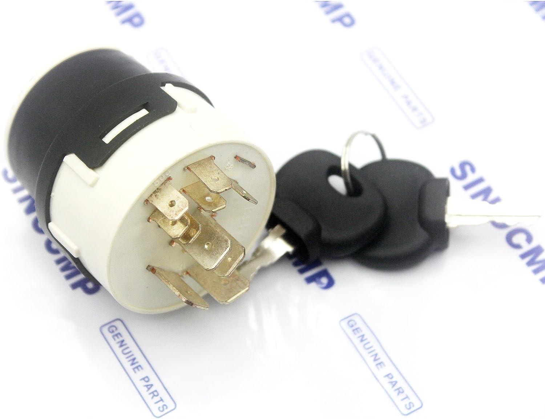 701//80184 701//45500 Excavatrice pi/Ã/¨ces 3 mois de garantie Sinocmp Interrupteur dallumage 9 Pins pour JCB Jcb200 Jcb220 partie non