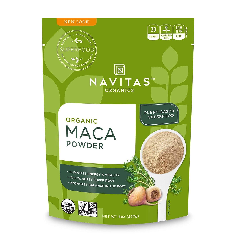 Navitas Organics Maca Powder, 8 oz. Bag — Organic, Non-GMO, Low Temp-DriedGluten-Free