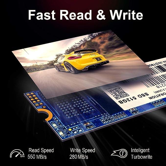 INDMEM DM80 M.2 SSD 512GB 2280 NGFF SATA III 3D NAND MLC Unidad de ...