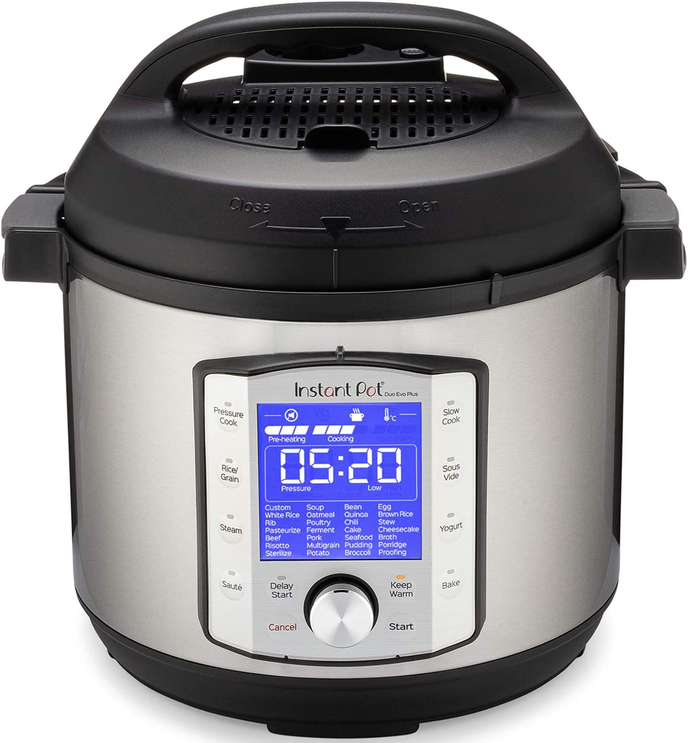 Instant Pot 6 Qt Duo Evo Plus 9-in-1, 1200 Watts Pressure Cooker