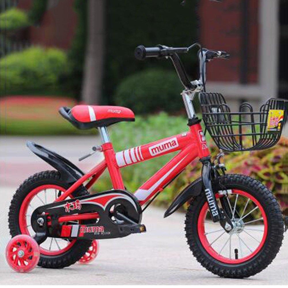 HAIZHEN マウンテンバイク ボーイズキッズバイクグリーン/ブルー/レッド/イエロー12インチ、14インチ、16インチ、18インチ 新生児 B07C3QKFFZ 16 inch|赤 赤 16 inch