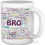 SKYTRENDS Printed Brother Ceramic Coffee Mug, Multicolour