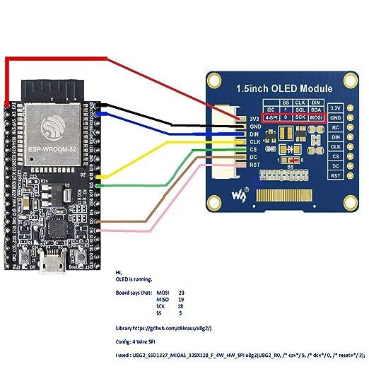 MakerFocus I2C OLED Display Module 1 5inch OLED Module with 128x128