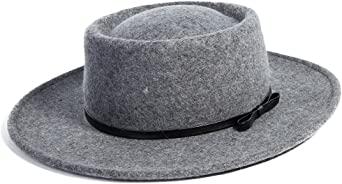JANETSHATS Womens100/% Wool Wide Brim Bowler Hat Fedora Floppy Cloche Felt Hats