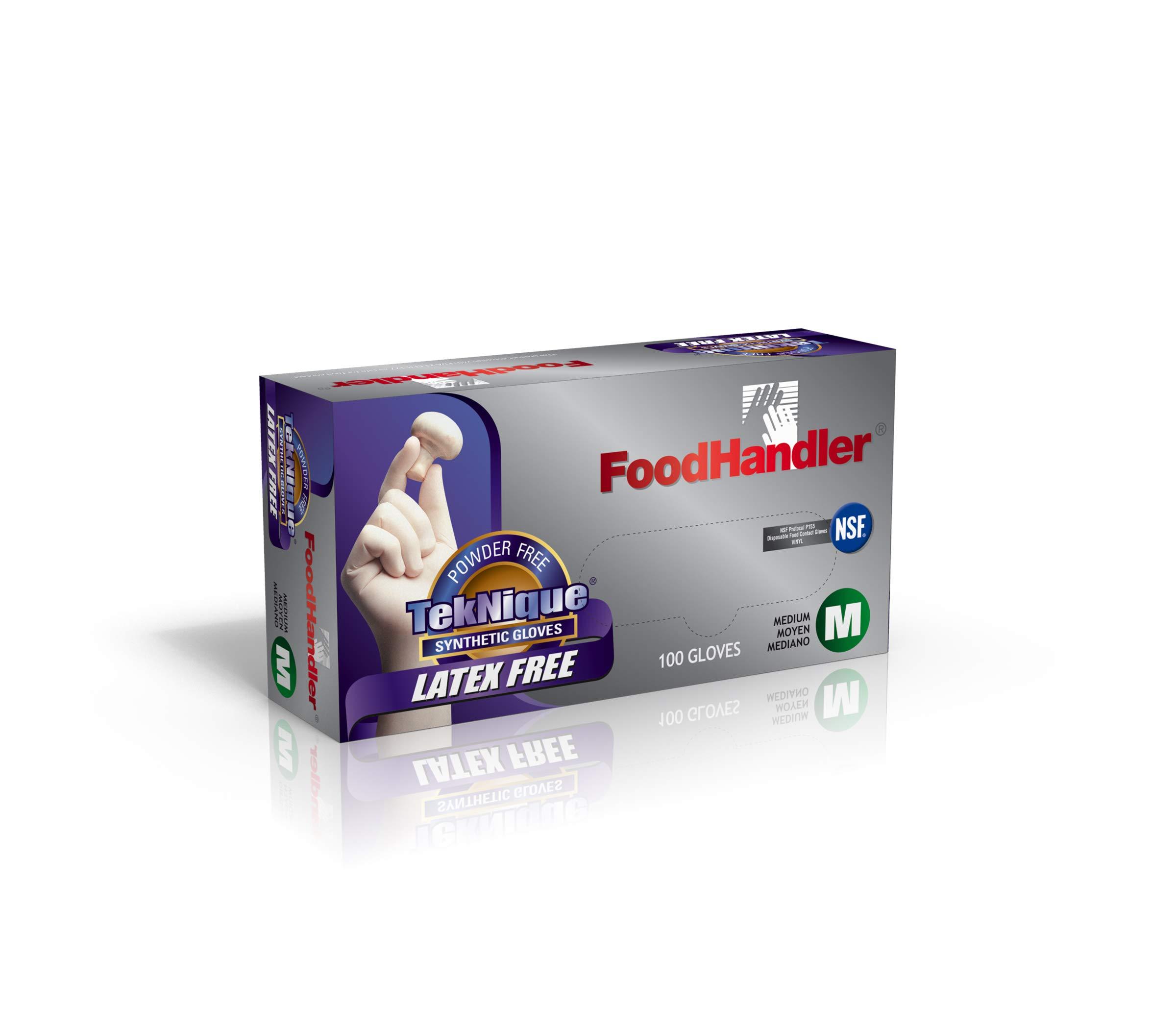 FoodHandler 103-TNQ14 FoodHandler TekNique Synthetic Vinyl MD Natural (Pack of 400)