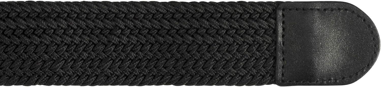 3XL Streeze 35mm Cintura Elasticizzata Intrecciata 6 Taglie Fibbia in Argento Ideale per Jeans Taglie Small