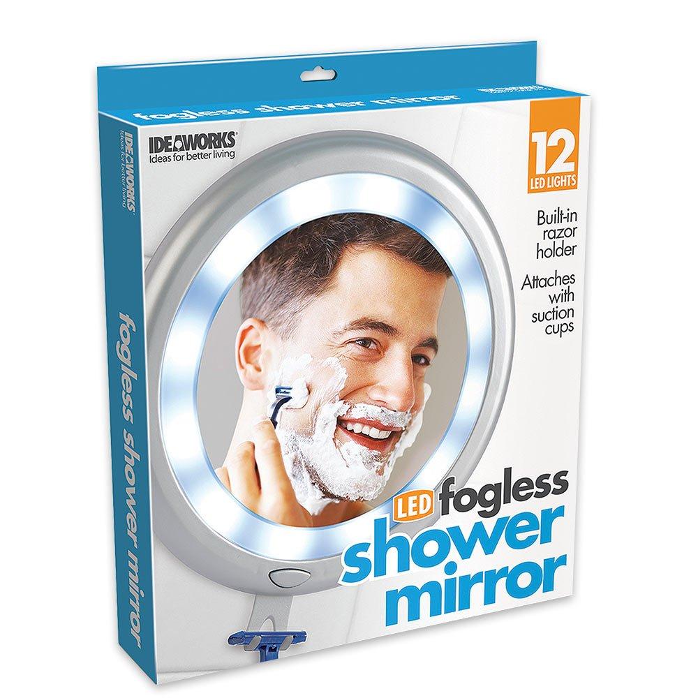 Fogless Shower Shave Mirror Bathroom Mounted Illuminated LED Anti Fog Mirror