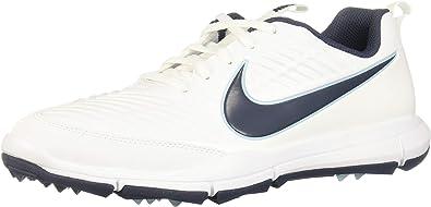 teoría Guión lealtad  Amazon.com | Nike Men's Explorer 2 Golf Shoes 849957-101 - White/Blue/Ocean  - 9.5 - Medium | Golf